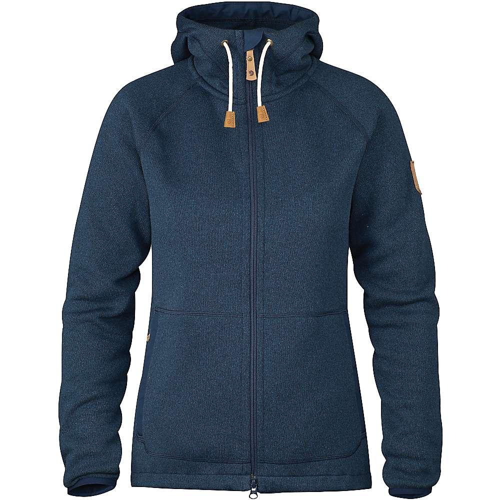 Fjallraven Women's Ovik Fleece Hoodie - XL - Navy