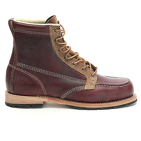 Woolrich Footwear Men's Woodsman Boot Tobacco Woolrich Footwear Men's Woodsman Boot - Tobacco - in stock now. FEATURES of the Woolrich Footwear Men's Woodsman Boot Horween leather upper Woolrich wool lining Goodyear welt construction Stacked leather midsole Vibram outsole