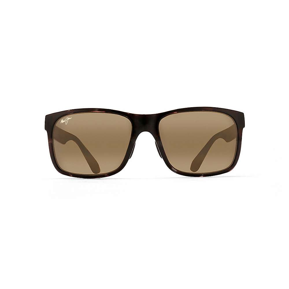 Maui Jim Red Sands Polarized Sunglasses - One Size - Black and Grey Tortoise / Neutral Grey