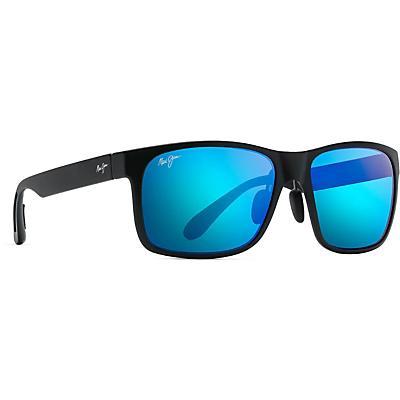 Maui Jim Red Sands Polarized Sunglasses - Matte Black / Blue Hawaii
