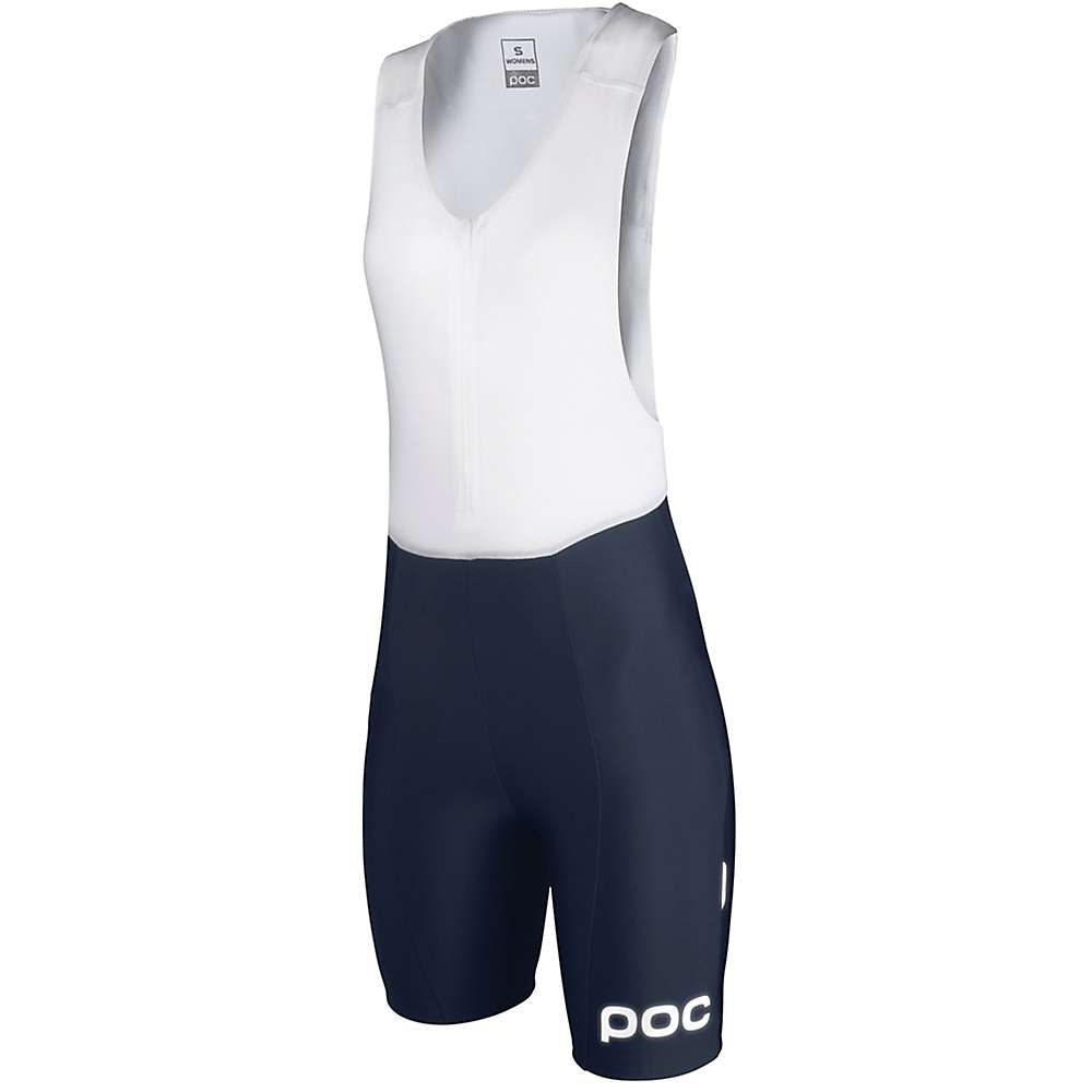 POC Sports Women's Multi D WO Bib Short - XS - Navy Black / Hydrogen White