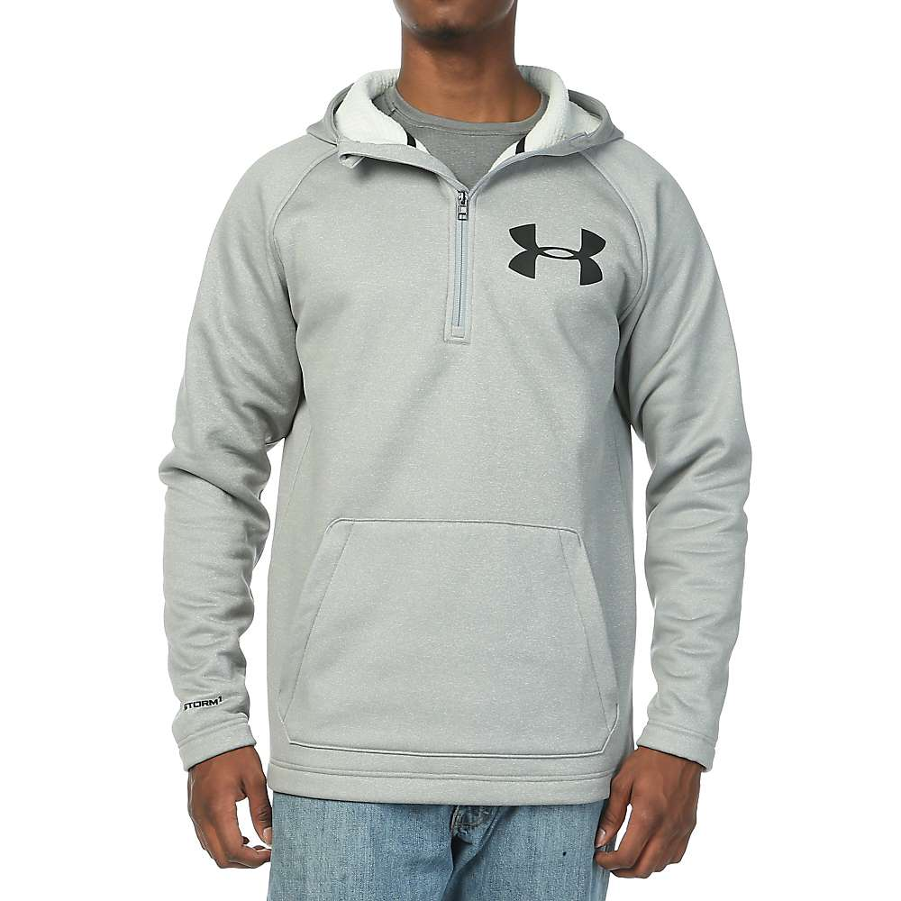 Under Armour Men's Coldgear Infrared Beacon Anorak Hoody - Small - True Grey Heather / Black