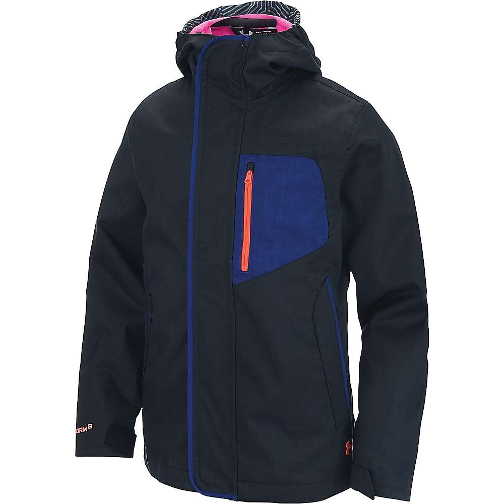 Under Armour Girl's ColdGear Infrared Gemma 3 In 1 Jacket - Medium - Black / Rebel Pink / After Burn