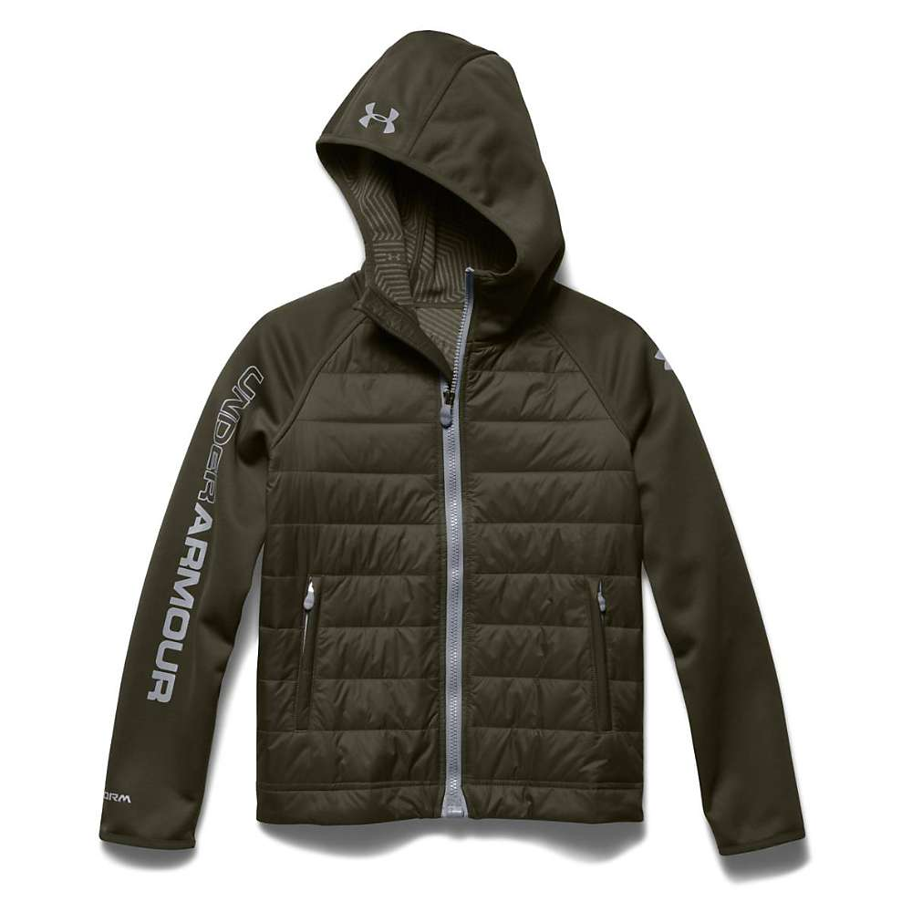 Under Armour Youth ColdGear Infrared Werewolf Jacket - Large - Greenhead / Steel