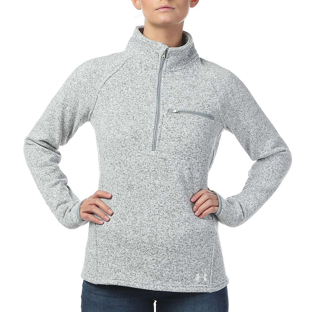 Under Armour Women's Wintersweet 1/2 Zip Top - XS - Steel Light Heather / White