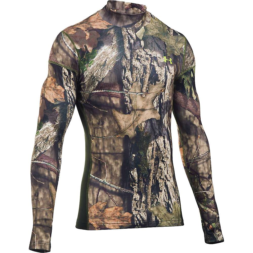 Under Armour Men's Coldgear Infrared Scent Control Tevo Mock - Large - Mossy Oak Open Count / Velocity