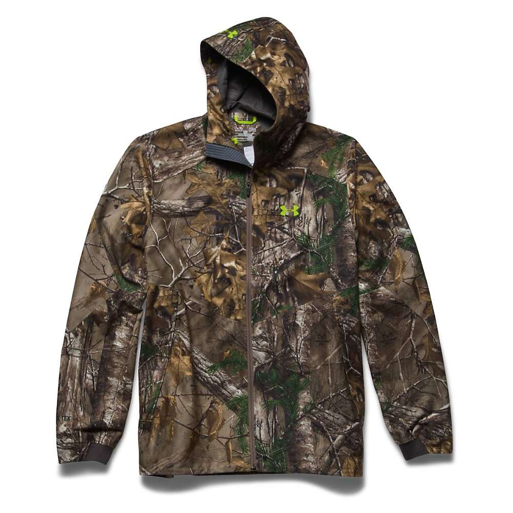 Under Armour Men's Gore Essential Rain Jacket – Small – Realtree Ap Xtra / Velocity