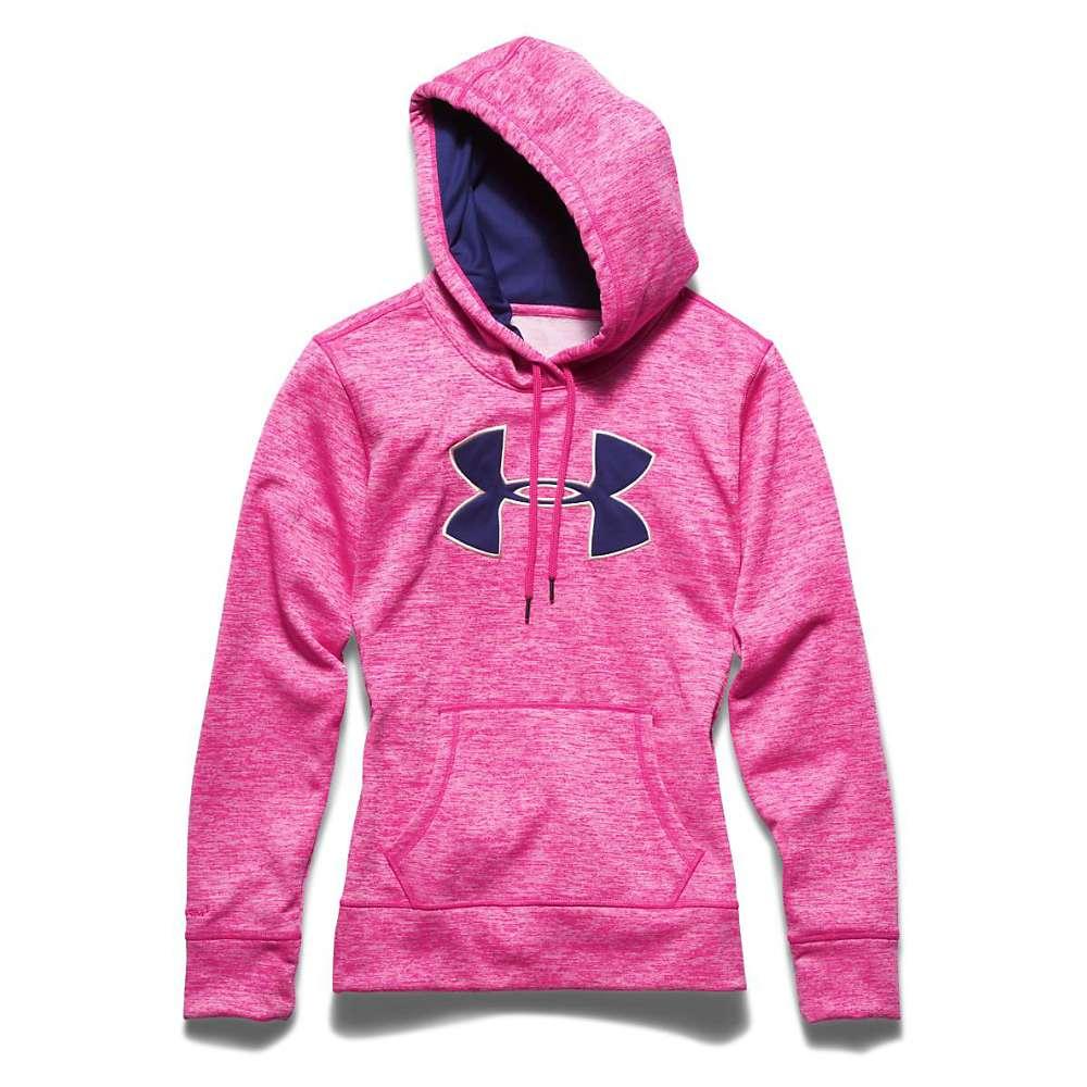 Under Armour Women's Armour Fleece Big Logo Twist Hoody - Small - Rebel Pink / Europa Purple / Luna Peach