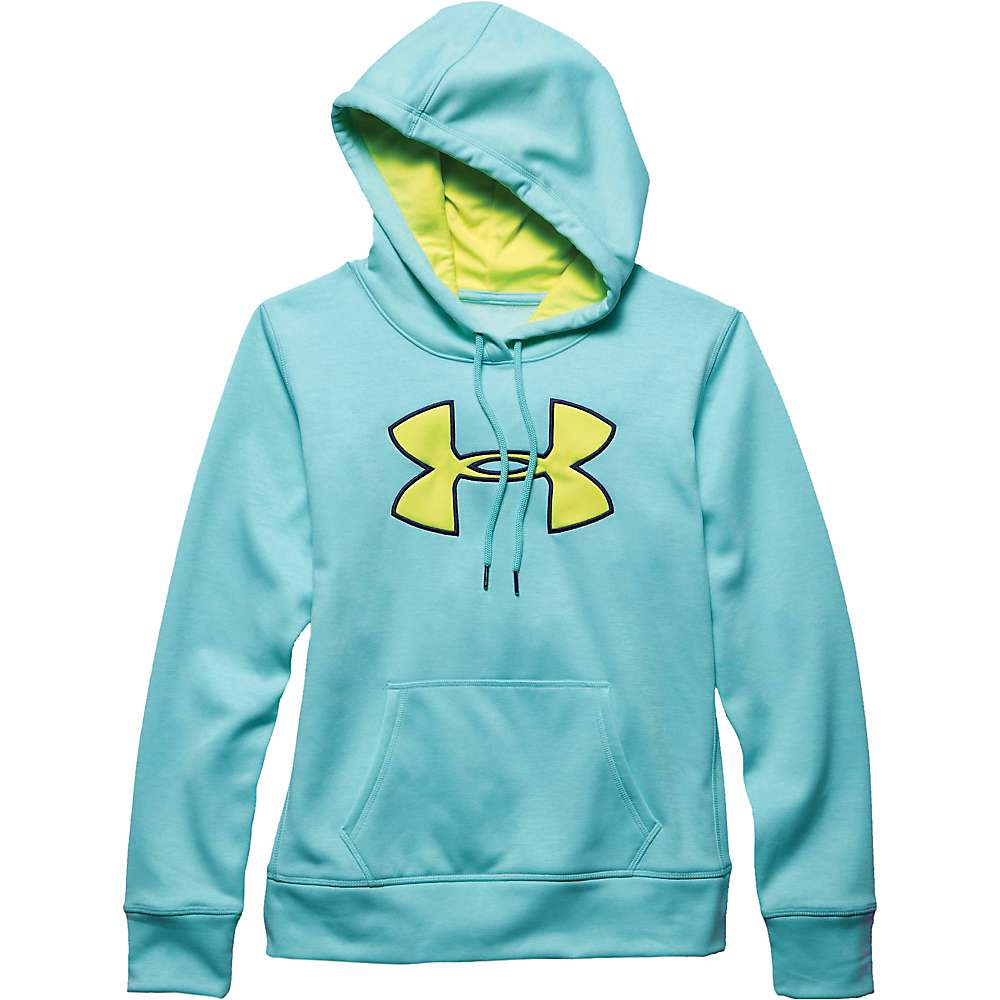 Under Armour Women's Armour Fleece Big Logo Twist Hoody - Medium - Veneer / Flash Light / Blue Knight