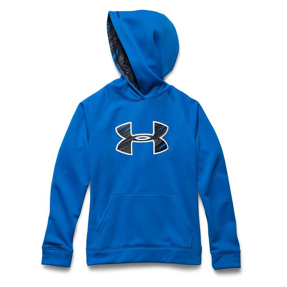 Under Armour Boys' Armour Fleece Storm Big Logo Hoody - Medium - Blue Jet / Black
