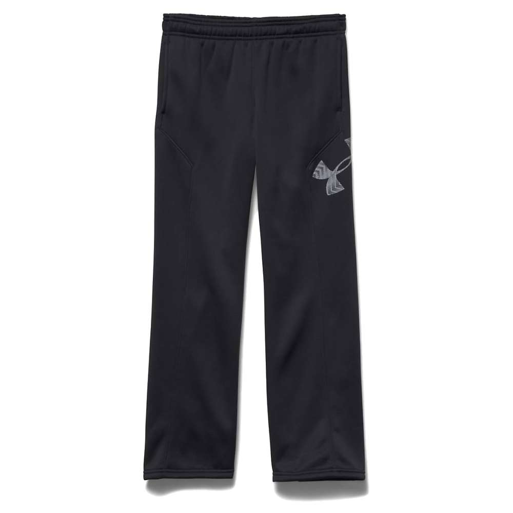 Under Armour Boys' Armour Fleece Storm Big Logo Pant - XL - Black / Steel