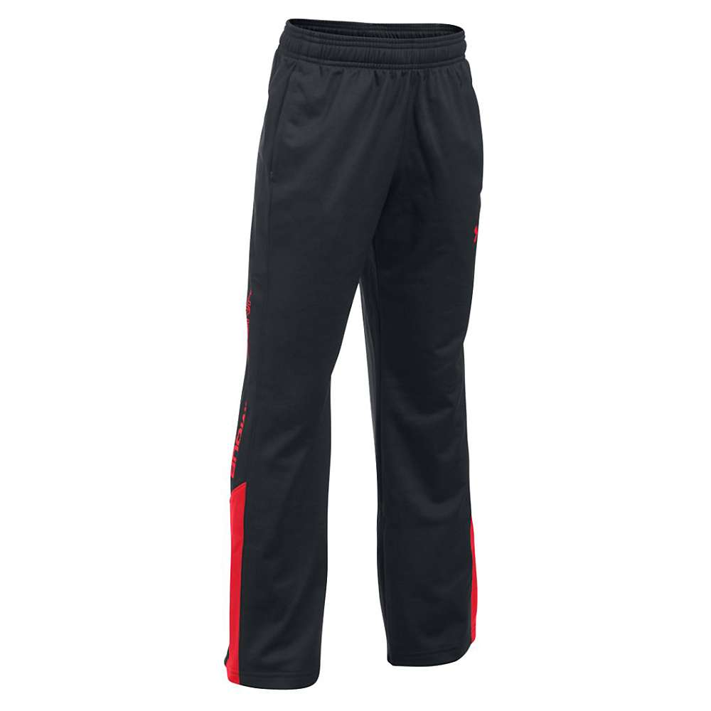 Under Armour Boys' UA Brawler 2.0 Pant - Medium - Black / Red / Red