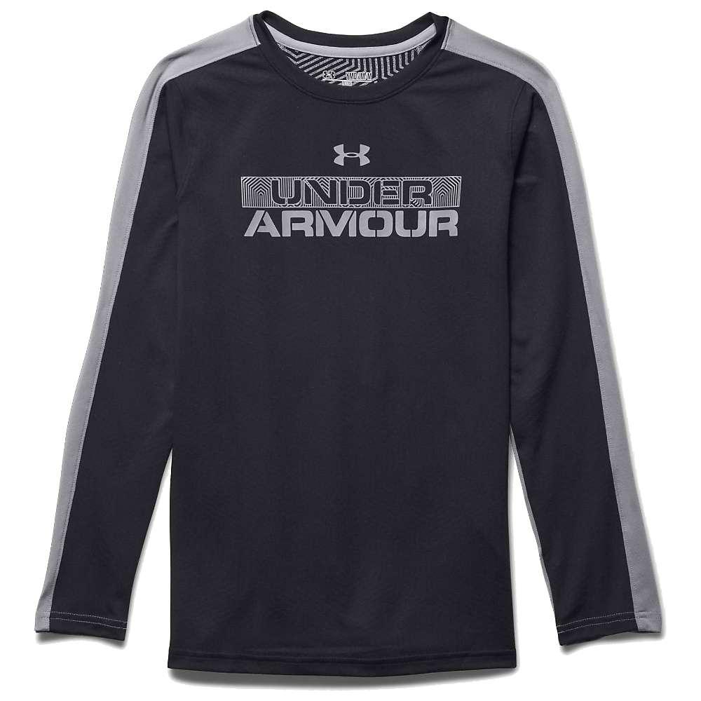 Under Armour Boys' ColdGear Infrared LS Tee - Medium - Black / Steel