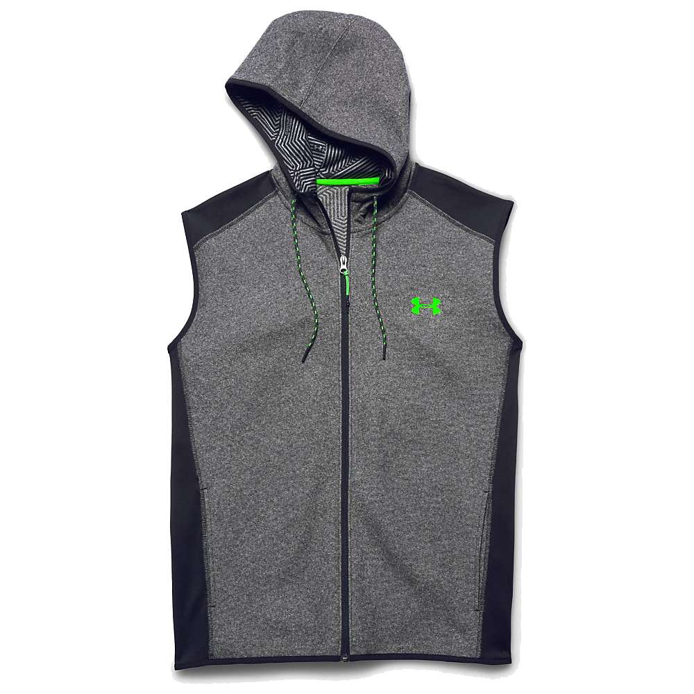Under Armour Men's ColdGear Infrared Survival Fleece Vest - XXL - Black / Black / Hyper Green