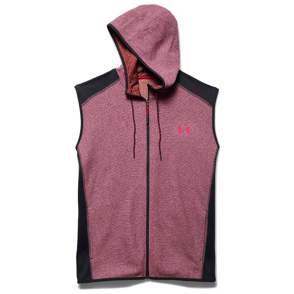 Under Armour Men's ColdGear Infrared Survival Fleece Vest - XL - Deep Red / Black / Red