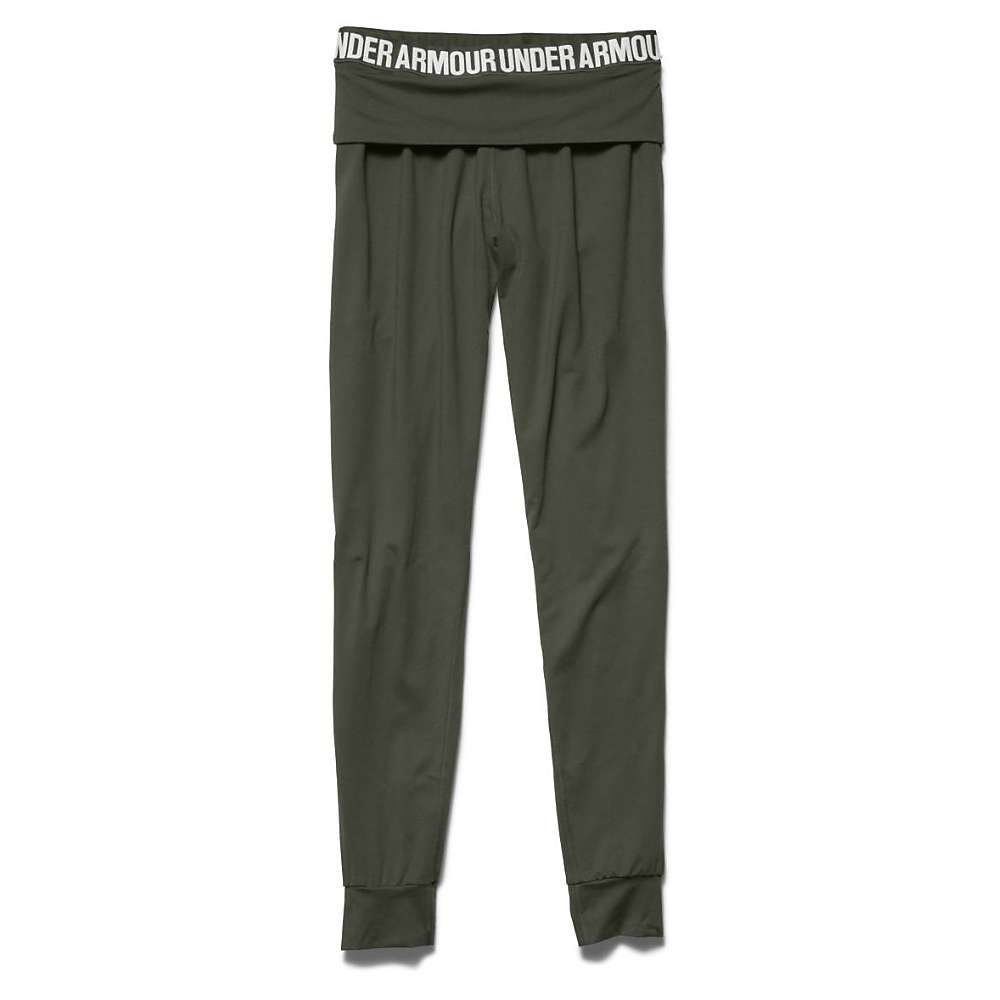 Under Armour Women's Downtown Knit Jogger Pant - Large - Downtown Green / Metallic Pewter