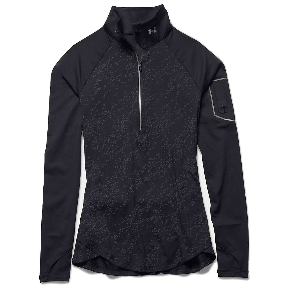 Under Armour Women's Fly Fast Luminous 1/2 Zip Top - Small - Black / Reflective