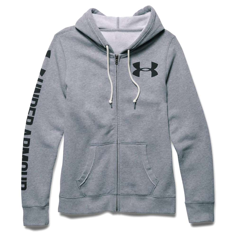 Under Armour Women's Favorite Fleece Full Zip Hoody - Small - True Gray Heather / Black