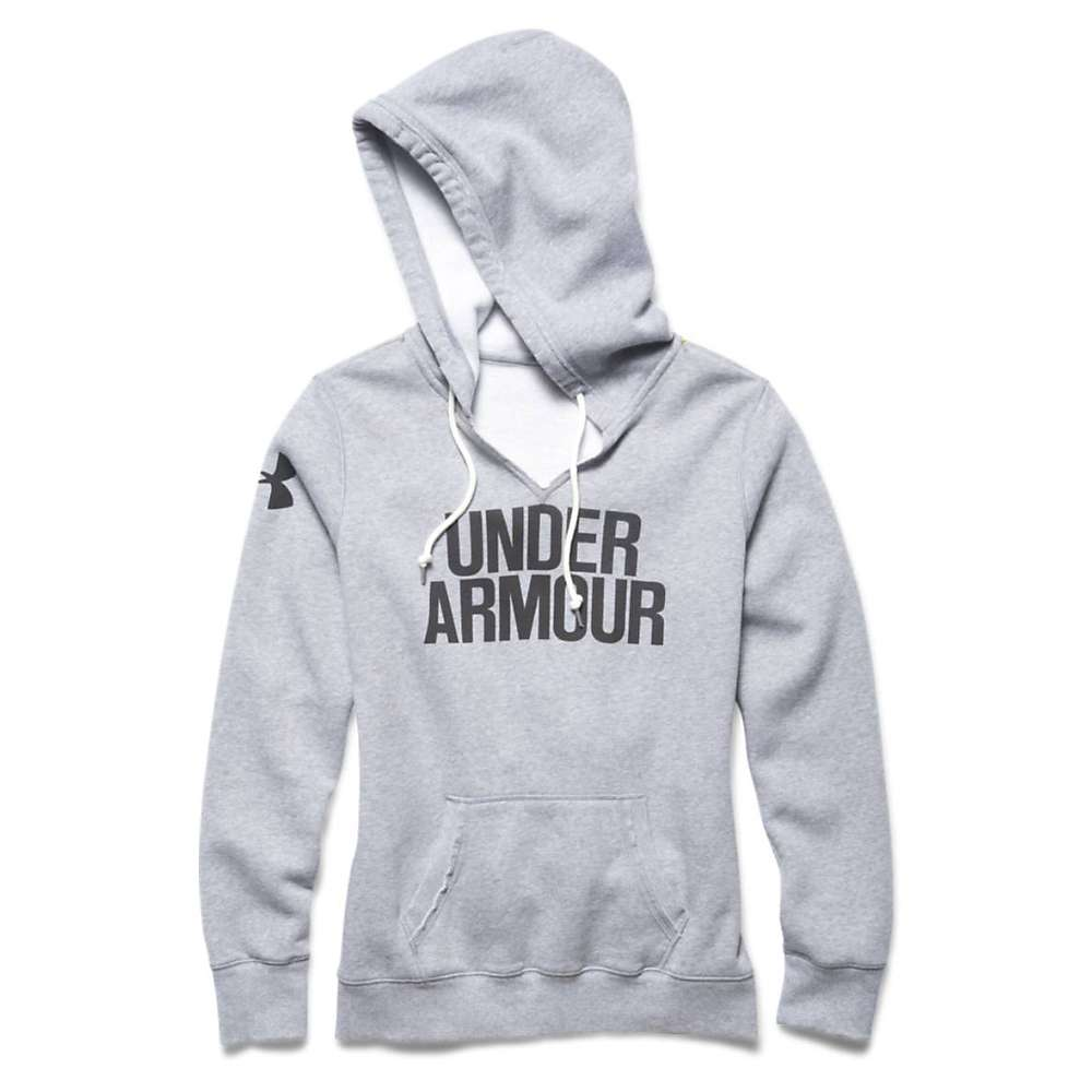 Under Armour Women's Favorite Fleece Wordmark Hoody - Small - True Gray Heather / Black