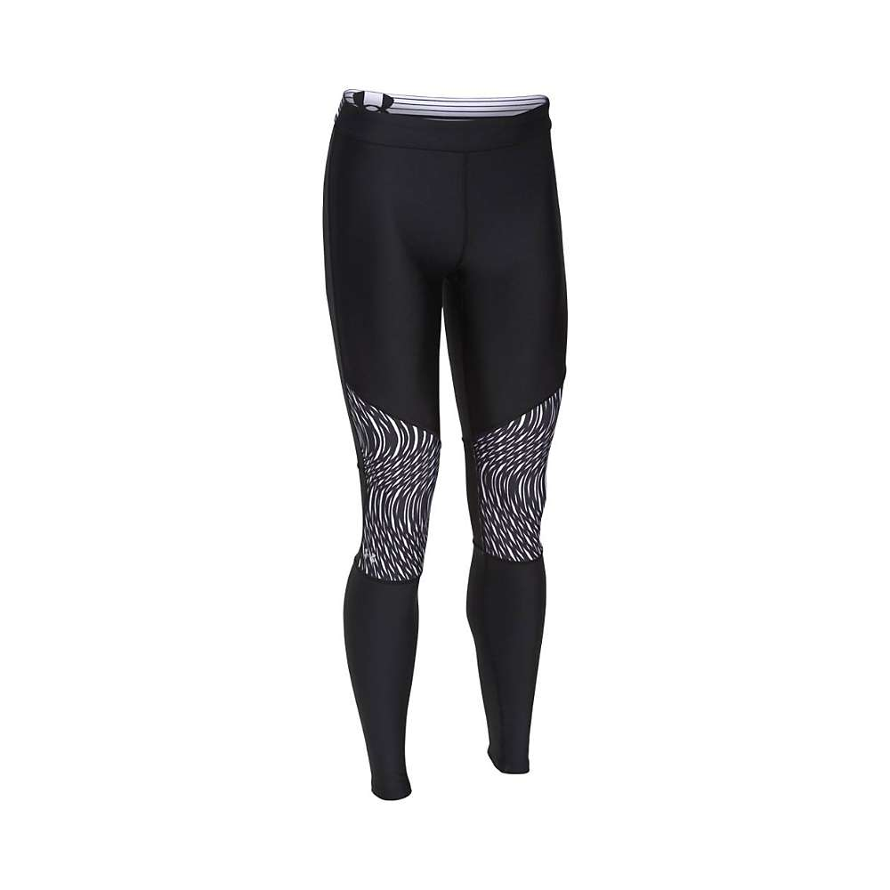 Under Armour Women's HeatGear Armour Print Inset Legging - Medium - Black / Black / Metallic Silver