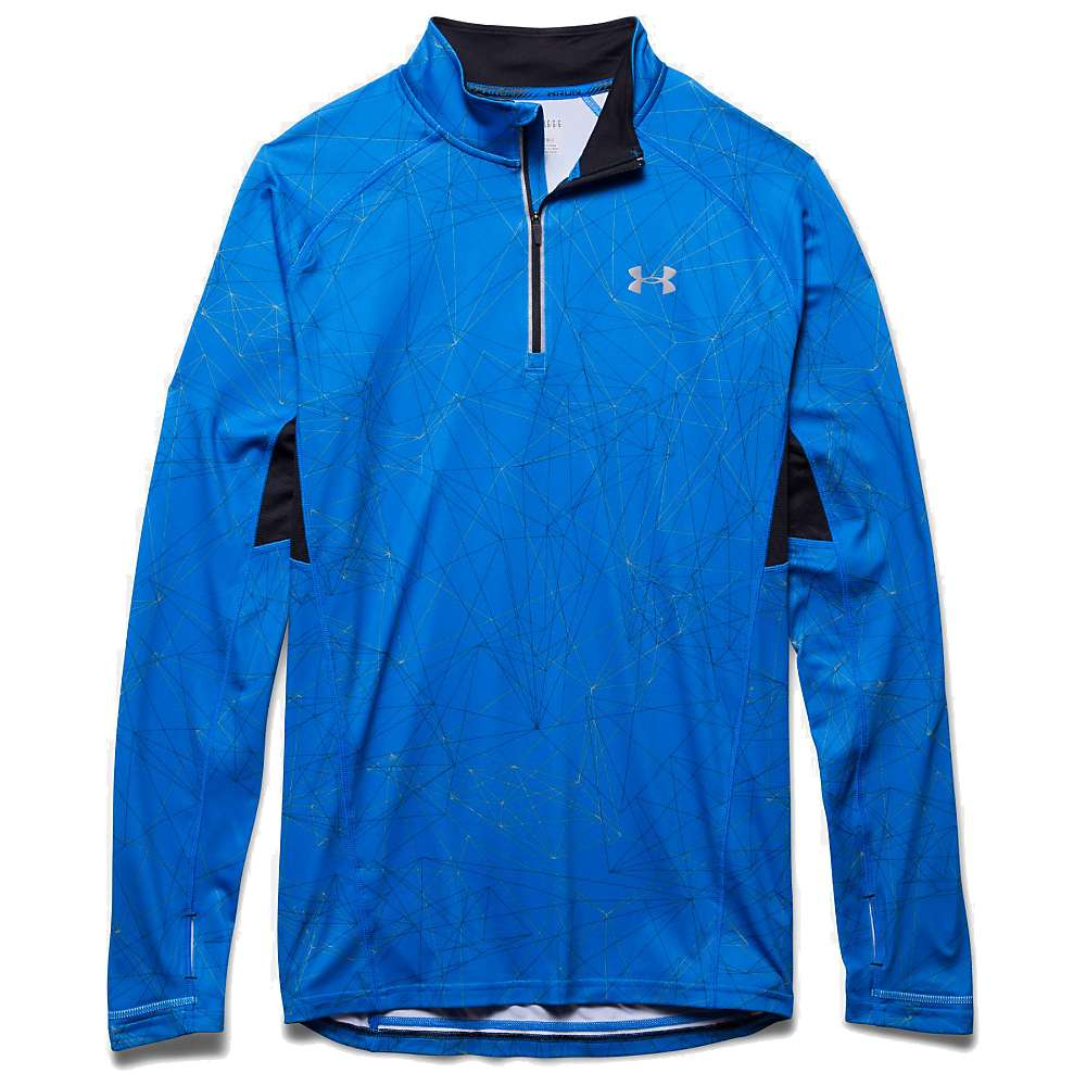 Under Armour Men's Launch Printed 1/4 Zip Top - Large - Blue Jet / Black / Reflective