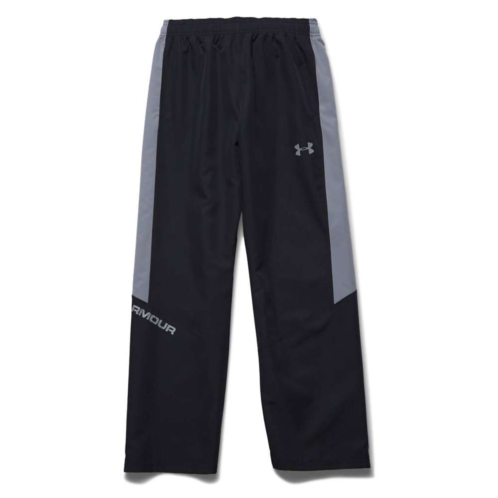 Under Armour Boys' Main Enforcer Woven Pant - Medium - Black / Steel
