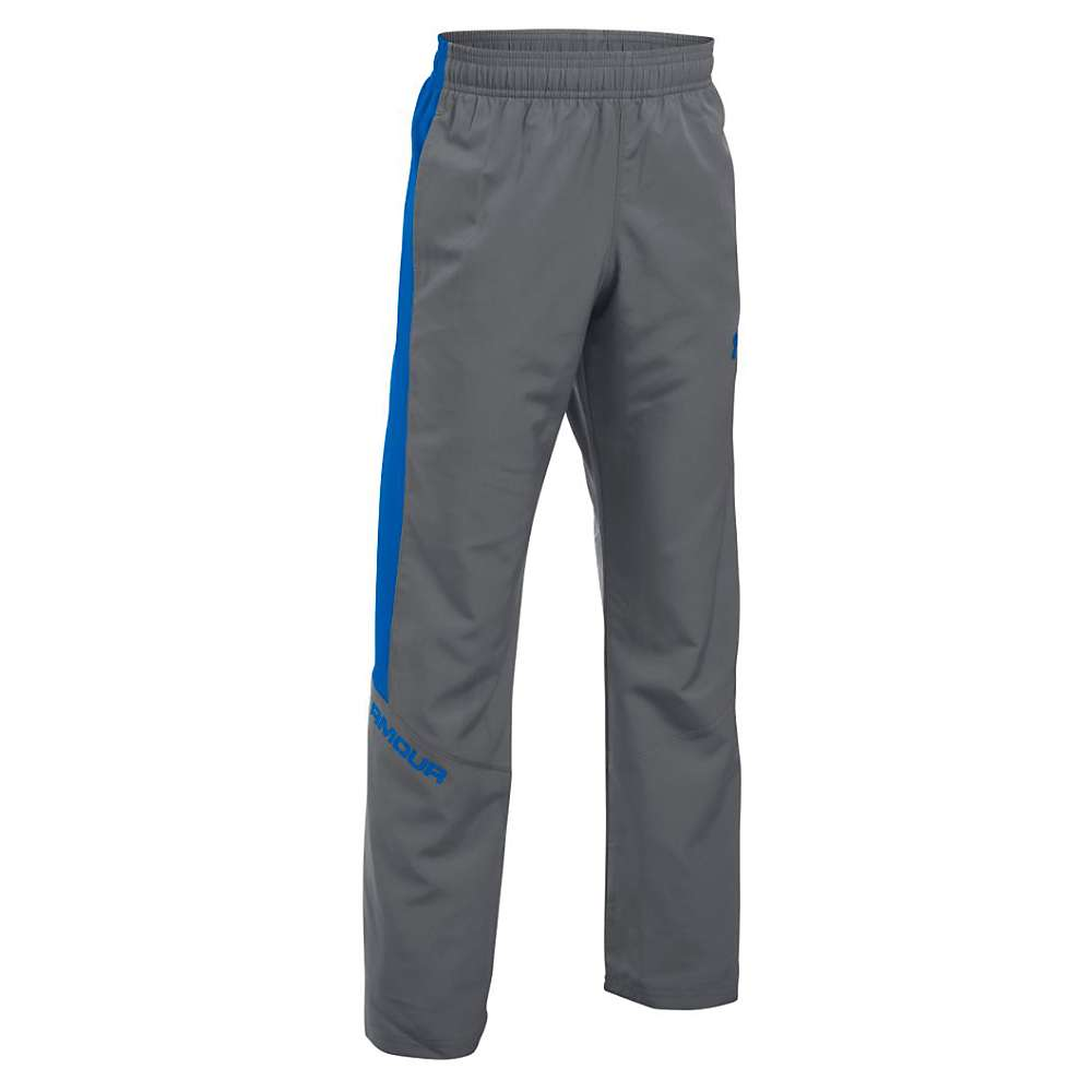 Under Armour Boys' Main Enforcer Woven Pant - Small - Graphite / Ultra Blue / Ultra Blue
