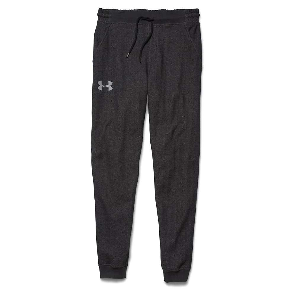Under Armour Men's Rival Cotton Novelty Jogger Pant - Medium - Asphalt Heather / Black / Amalgam Gray