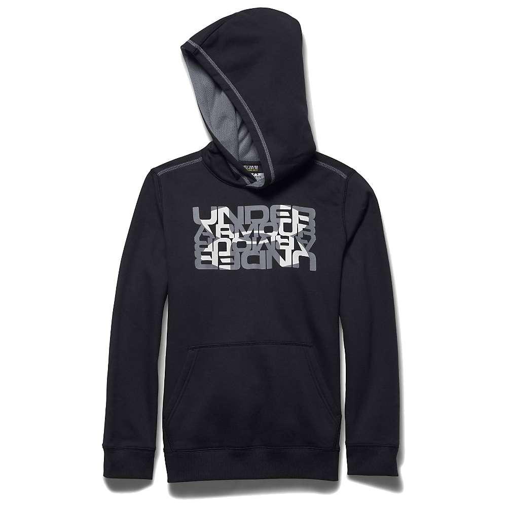 Under Armour Boys' Rival Cotton Logo X2 Hoody - Medium - Black / Steel