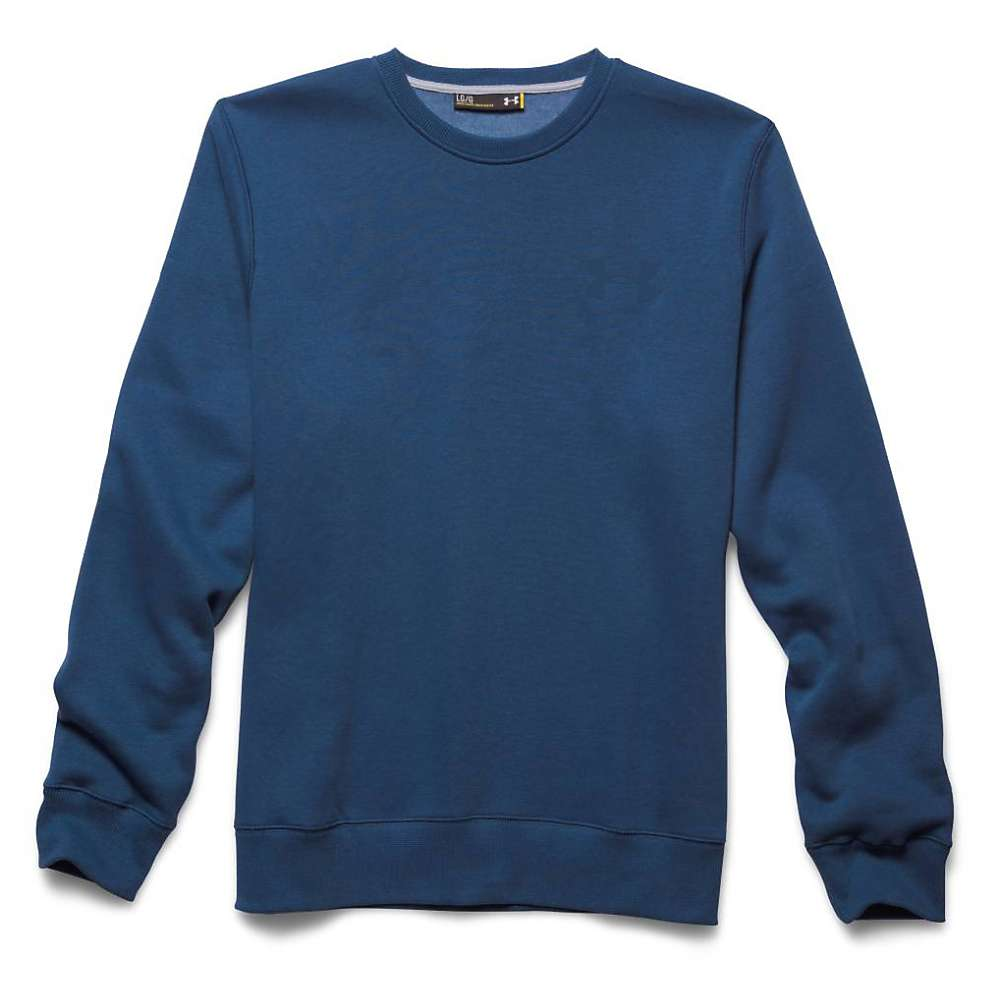 Under Armour Men's Rival Cotton Novelty Crew Top - Small - Petrol Blue / Black