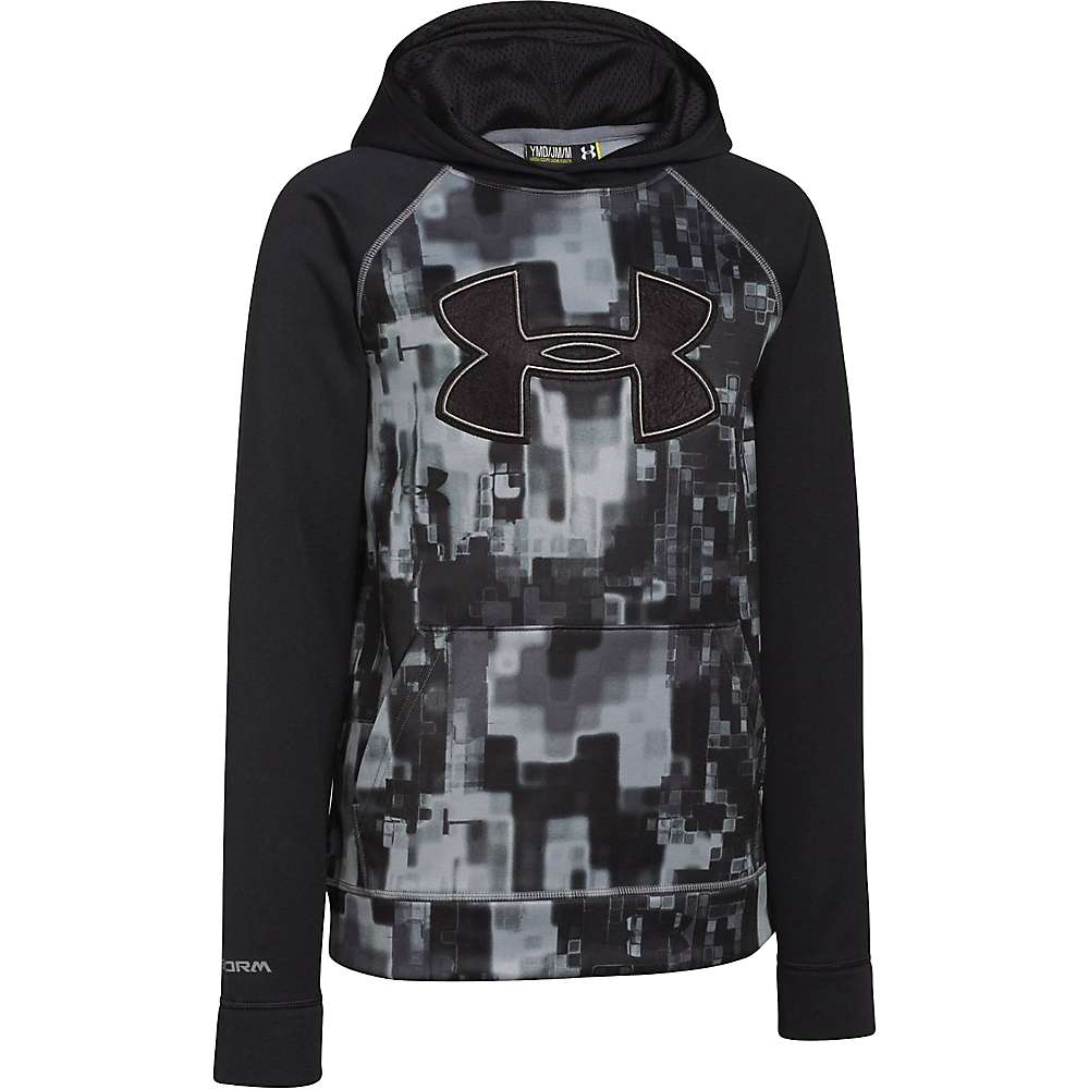 Under Armour Boys' Storm Armour Fleece Printed Big Logo Hoody - Small - Black / Graphite / Black