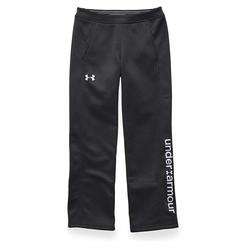 Under Armour Girls' Storm Armour Fleece Pant - Small - Black / Black / White
