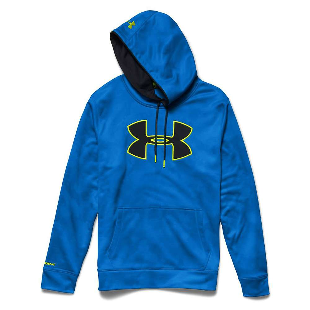 Under Armour Men's Storm Armour Fleece Big Logo Printed Hoody - XL - Electric Blue / Black / High Vis Yellow