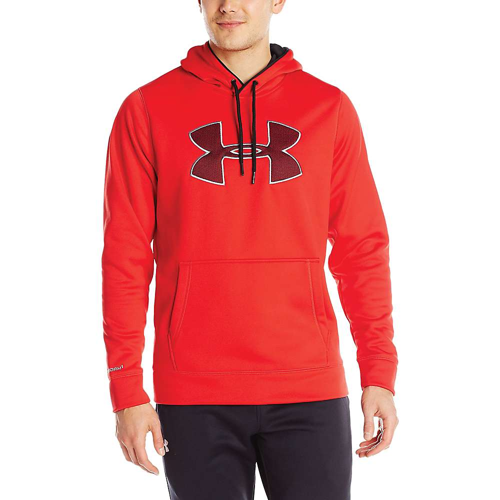 Under Armour Men's Storm Armour Fleece Big Logo Hoody - Large - Red / Black / Steel
