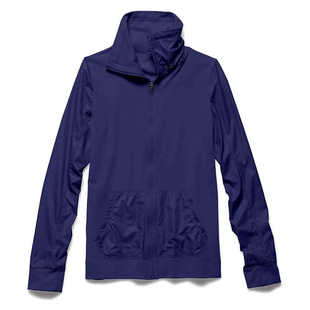 Under Armour Women's Studio Essential Jacket - Large - Europa Purple / Europa Purple / Metallic Pewter