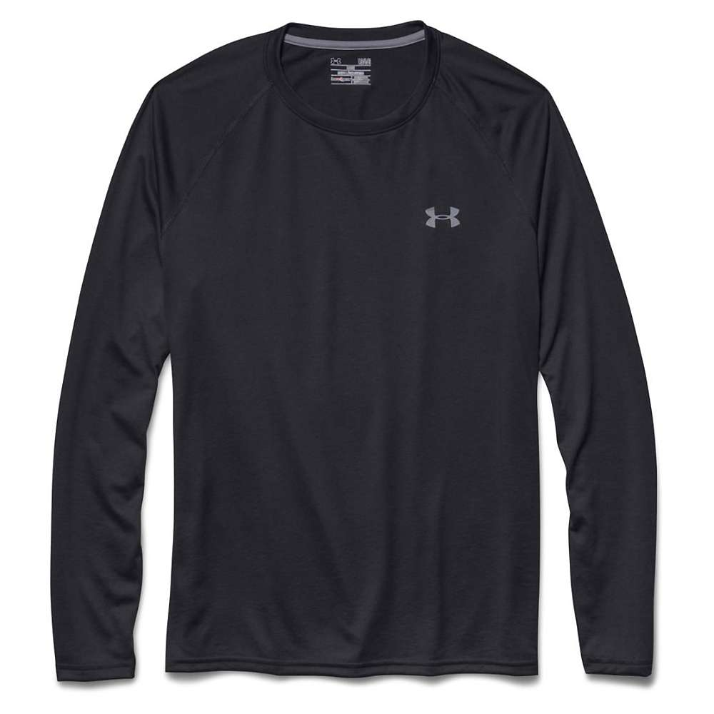 Under Armour Men's UA Tech LS Tee - Large - Black / Steel