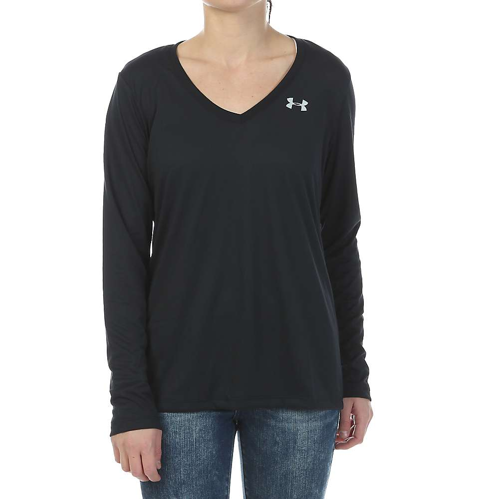 Under Armour Women's Tech LS Top - Medium - Black / Metallic Silver