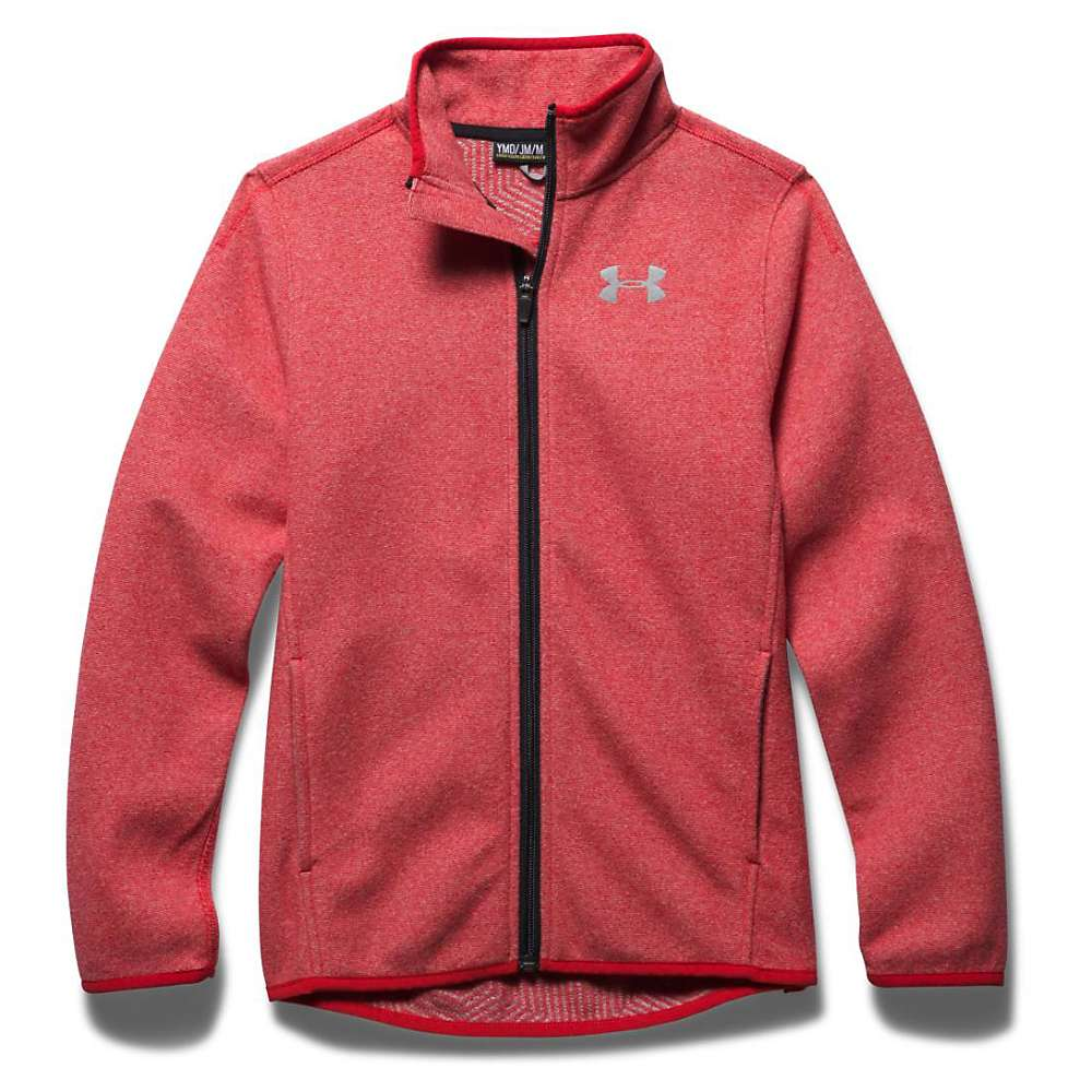 Under Armour Boys' The ColdGear Infrared Fleece Jacket - XL - Risk Red / Black / Reflective