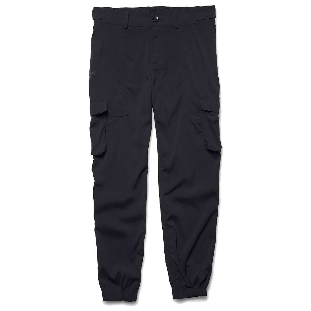 Under Armour Women's Woven Cargo Pant - XL - Black / Black / Reflective