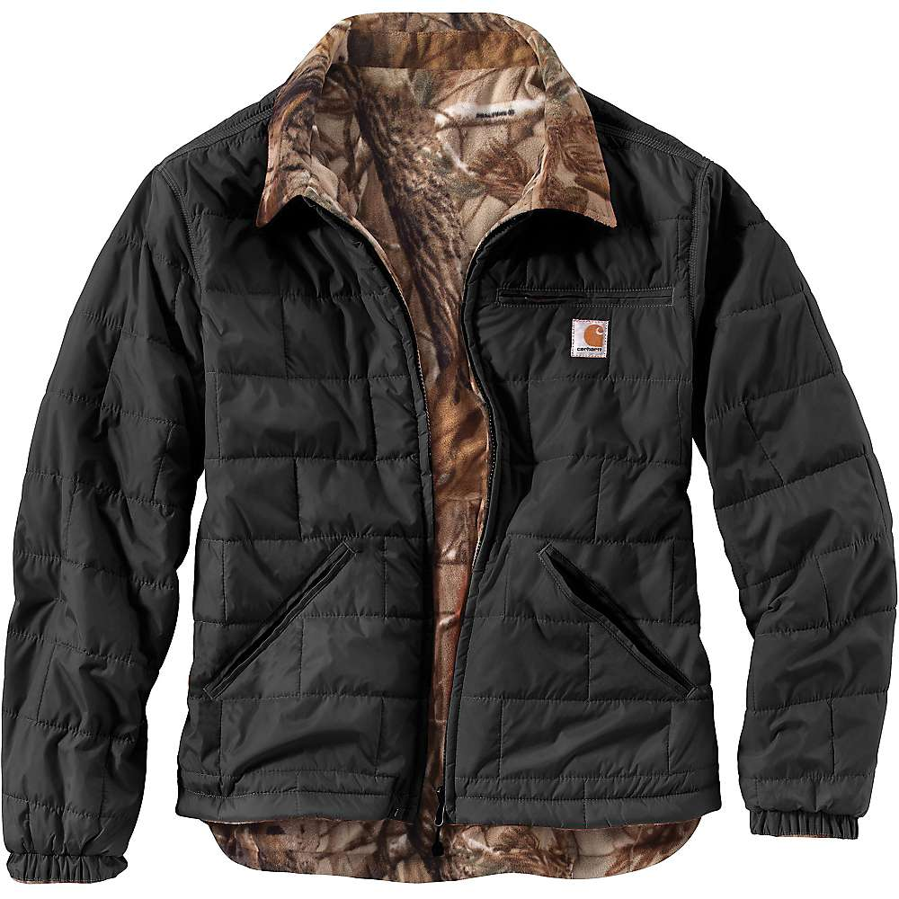 Carhartt Men's Woodsville Jacket - XXL Regular - Black / Realtree Xtra Lining
