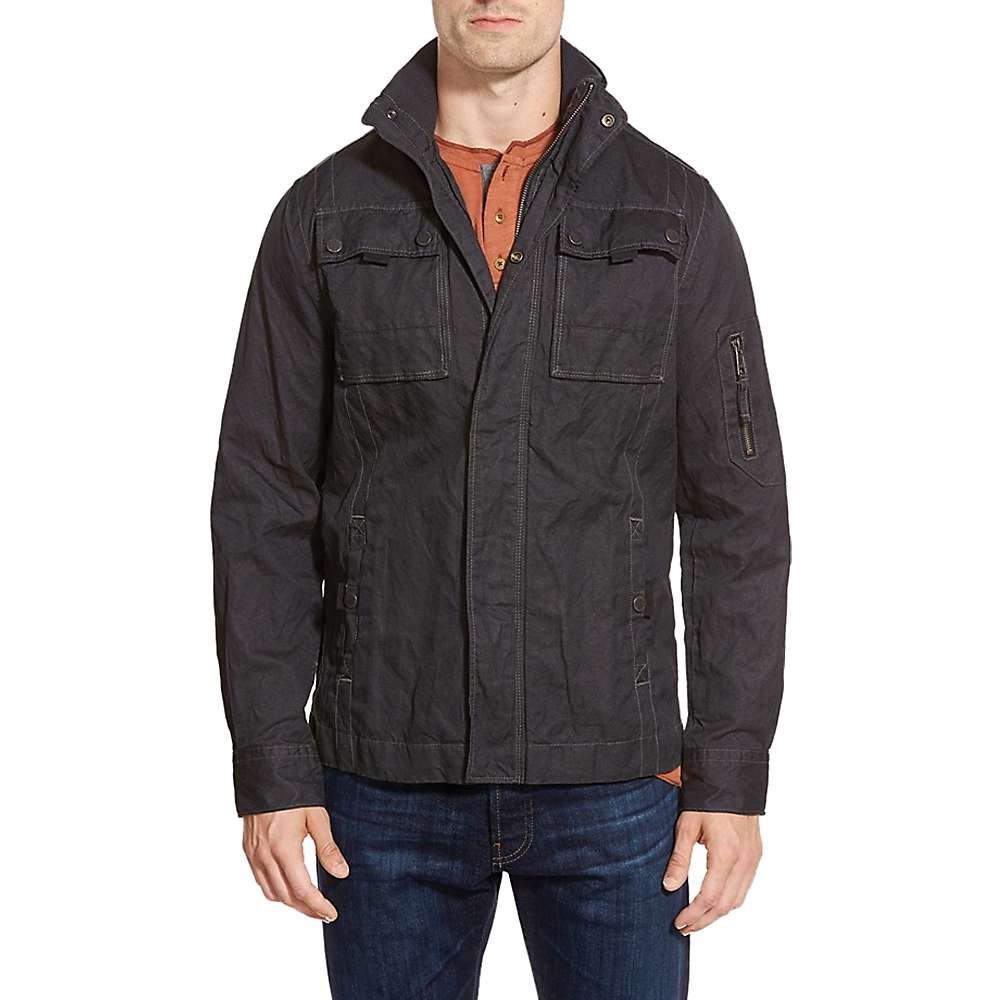 Jeremiah Men's Thorne Coated Canvas Jacket - Small - Black
