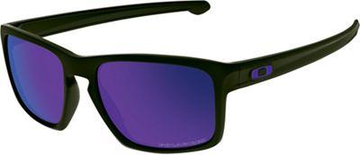 Oakley Sliver Polarized Sunglasses - One Size - Matte Black / Violet Iridium Polarized