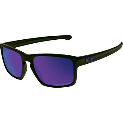 Oakley Sliver Polarized Sunglasses - Matte Black / Violet Iridium Polarized