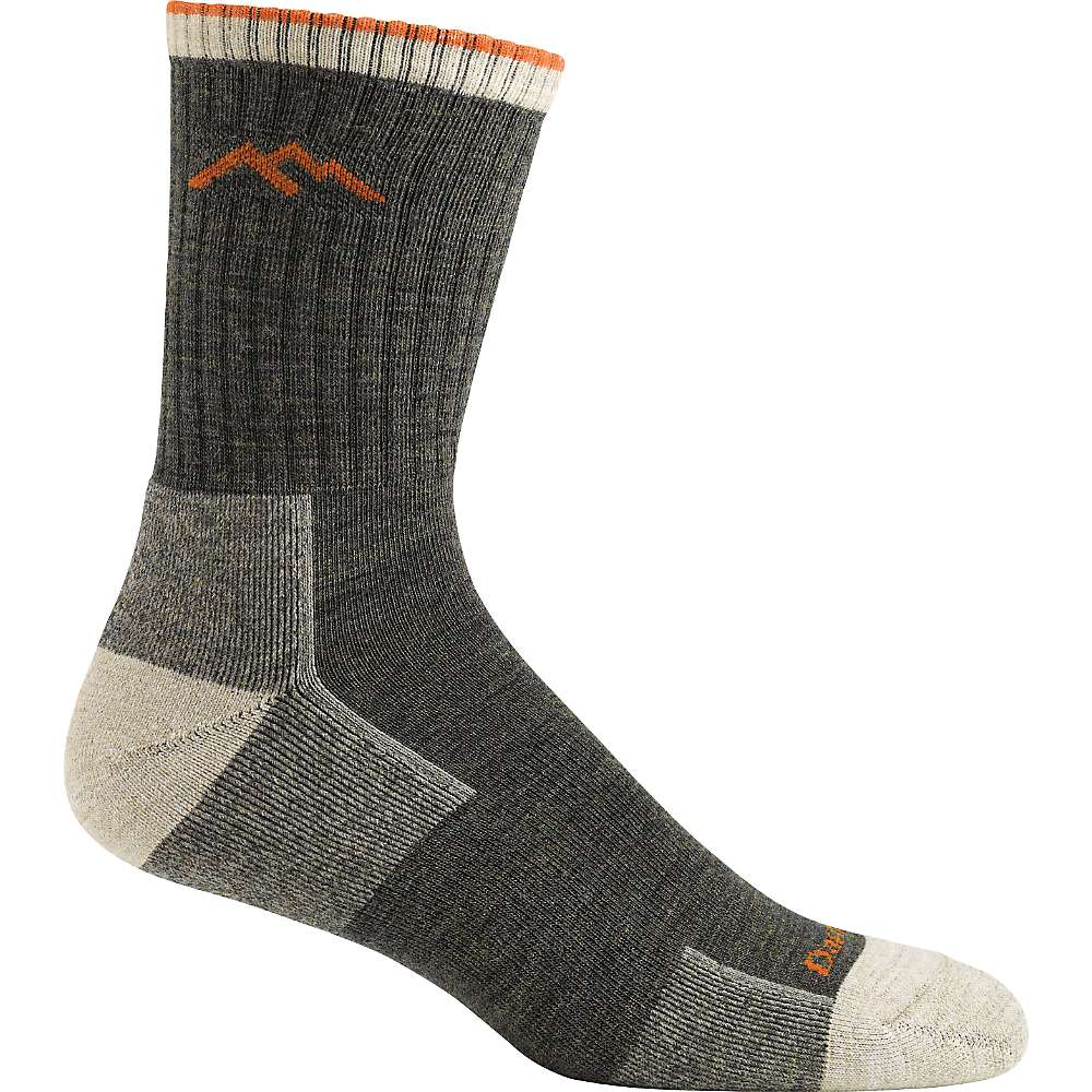 Darn Tough Men's Hiker Micro Crew Cushion Sock - Medium - Olive