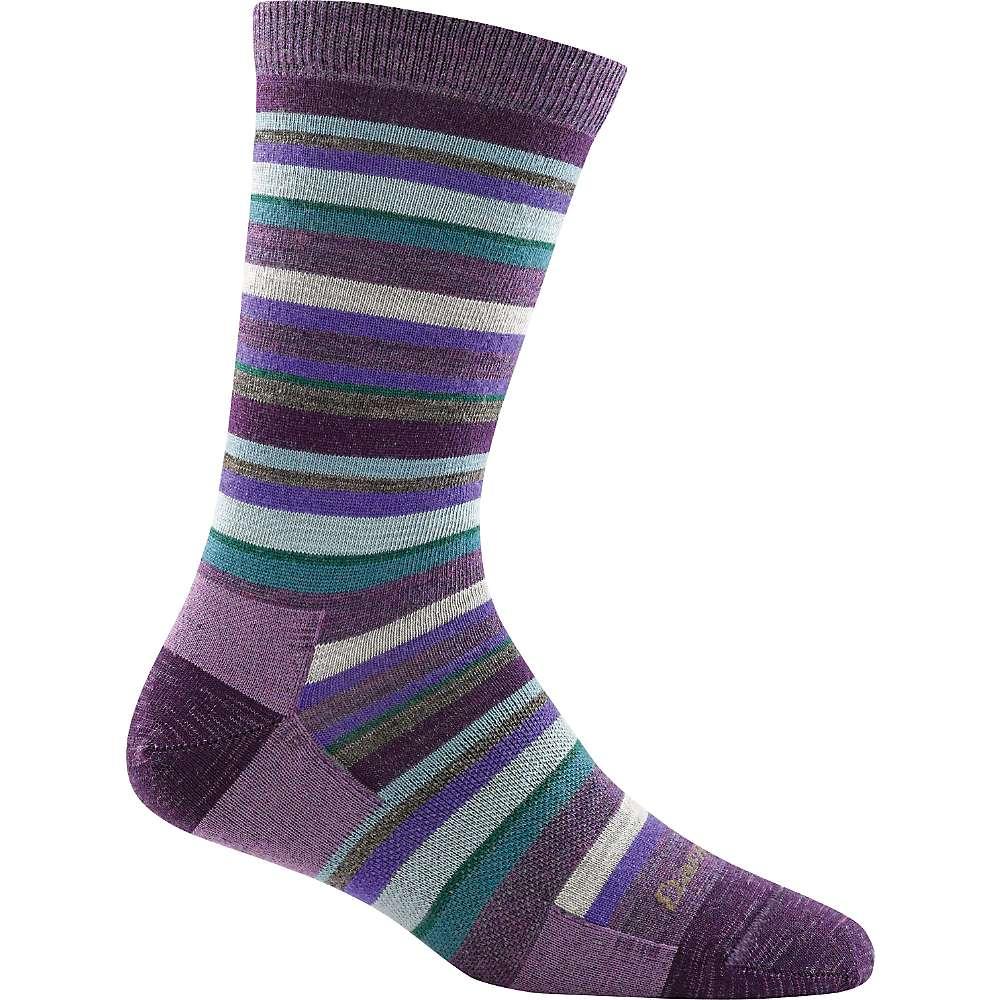 Darn Tough Women's Sassy Stripe Light Crew Sock - Small - Plum
