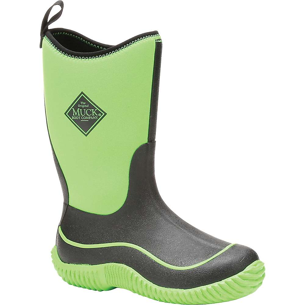 Muck Youth Hale Boot - 2 - Black / Neon Green