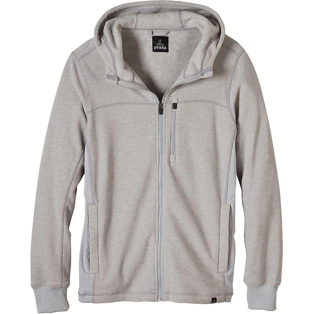 Prana Men's Drey Full Zip Top - XL - Silver