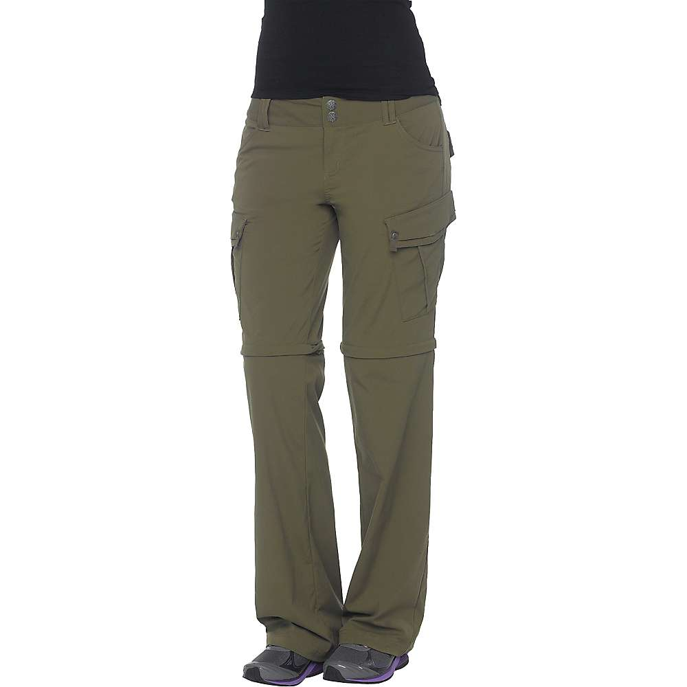 Prana Women's Sage Convertible Pant - 0 Regular - Cargo Green