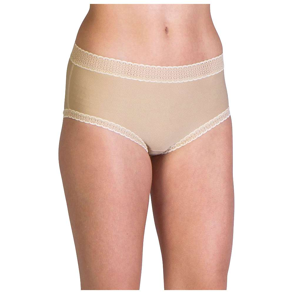 ExOfficio Women's Give-N-Go Lacy Full Cut Brief - Medium - Nude