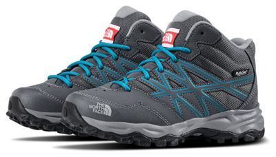 The North Face Junior Hedgehog Hiker Mid Waterproof Boot - Turbulence Grey / Hyper Blue